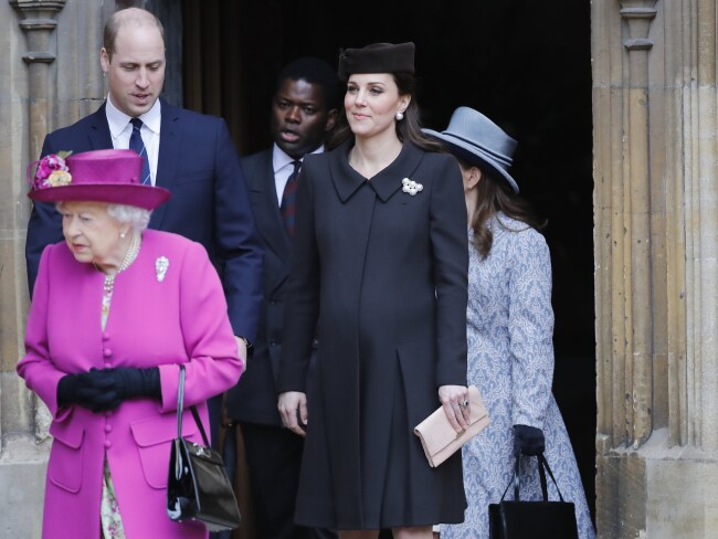 It seems Kate and William's roles act as a strong, calm presence behind the Queen. Photo: Getty