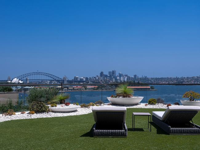 The penthouse at 56 Yarranabbe Rd, Darling Point, has a rare rooftop garden
