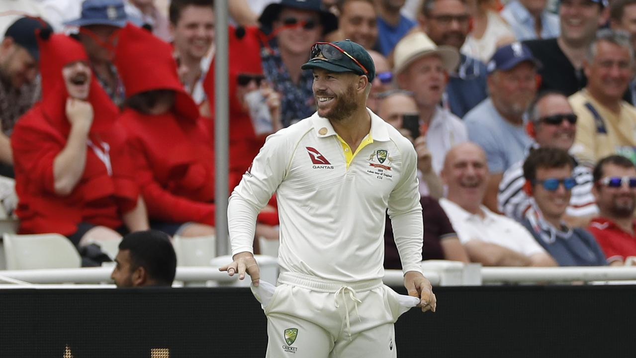 In the end, all David Warner could do is laugh.