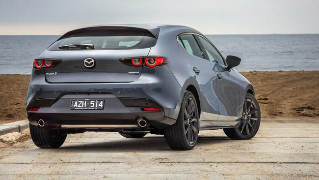 The Mazda3 can be ordered with new 'polymetal grey' paint for $495.