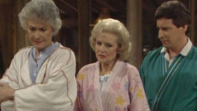 Charles Levin with Bea Arthur and Betty White in Golden Girls. Picture: IMDB