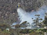 Property called 'No Where' being water bombed. Bushfire on Collinsvale Road Glenlusk. Picture: NIKKI DAVIS-JONES