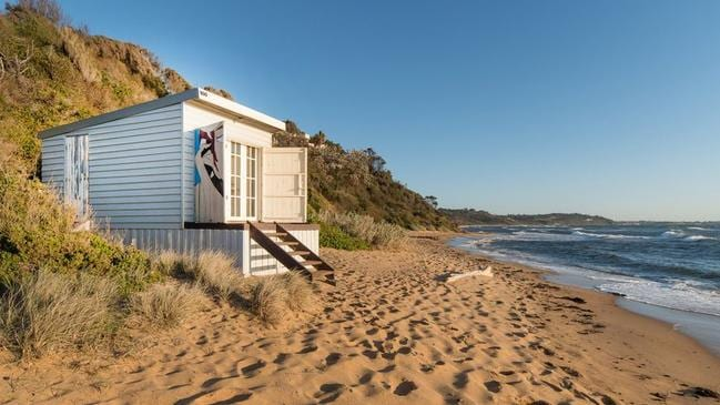 The beach box is on a secluded stretch of sand.