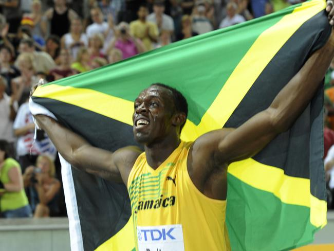 Holly Young once dated Jamaica's Usain Bolt, one of the greatest athletes in history. Picture: AFP