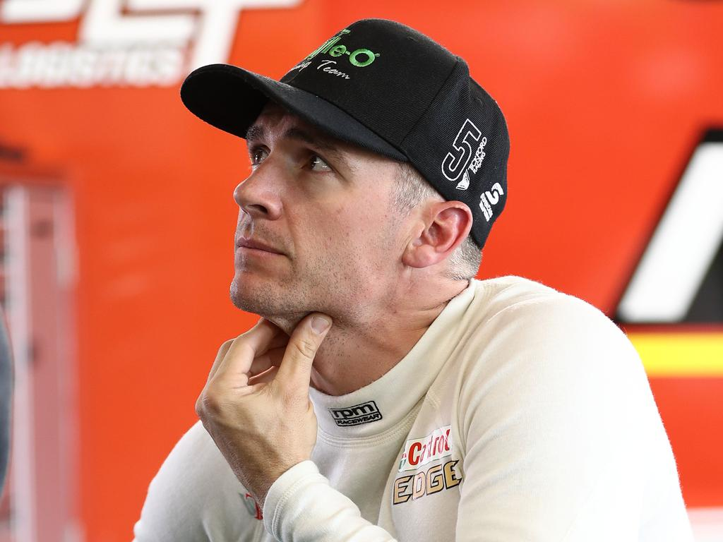 PHILLIP ISLAND, AUSTRALIA - APRIL 13: Lee Holdsworth driver of the #5 The Bottle-O Racing Team Ford Mustang looks on during qualifying for the Phillip Island 500 as part of the Supercars Championship season at Phillip Island Grand Prix Circuit on April 13, 2019 in Phillip Island, Australia. (Photo by Robert Cianflone/Getty Images)