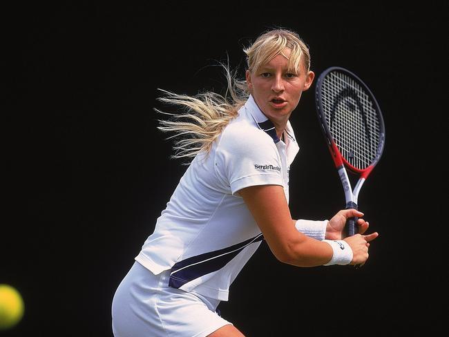 Mirjana Lucic-Baroni at Wimbledon in 2000.