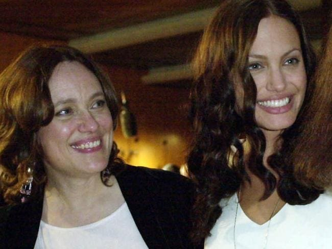 Angelina and her late mother Marcheline Bertrand, who passed away in 2007. Picture: AP Photo/Kevork Djansezian