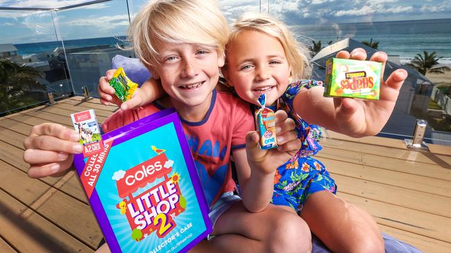Kids love their collectables campaigns. Picture: Nigel Hallett