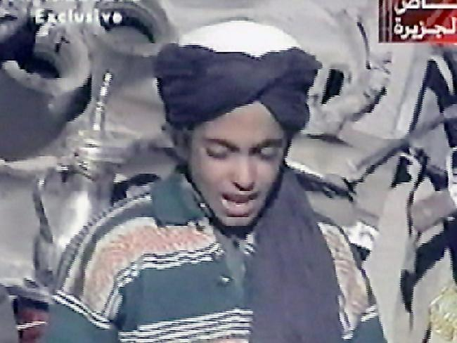 A file photo of Hamza bin Laden, the youngest son of Osama bin Laden.
