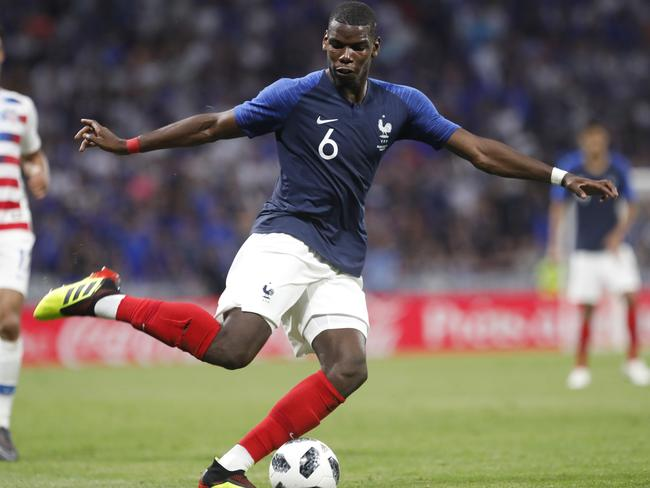 French star Paul Pogba and his teammates will provide a tough test for the Aussies.