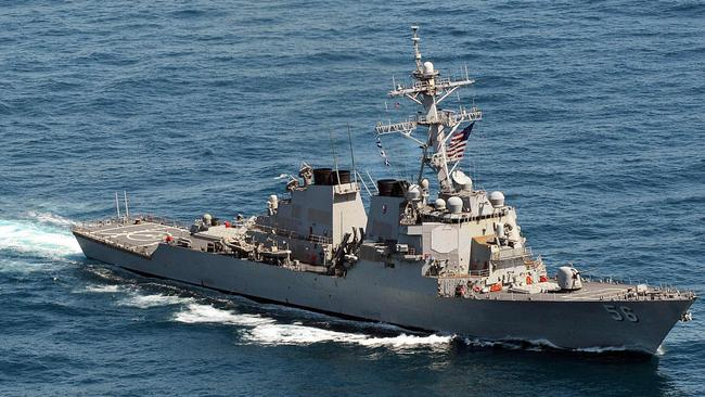 A file image of the Arleigh Burke-class guided-missile destroyer USS John S. McCain. Picture: AFP