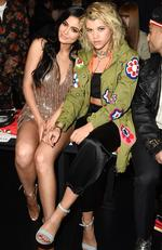 Kylie Jenner and Sofia Richie attend the Jeremy Scott collection during New York Fashion Week: The Shows at Gallery 1, Skylight Clarkson Sq on February 10, 2017 in New York City. Picture: Getty