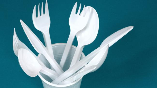 Plastic cutlery are among the single-use plastic items to be banned in South Australia.
