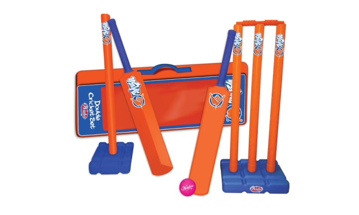 <b>17. WAHU DOUBLE CRICKET SET, RRP $59.99.</b>  <p>As above, it comes with a carry case, oh happy day! Take it to the beach and fire up the family rivalry for Christmas Day. Howzat!</p>