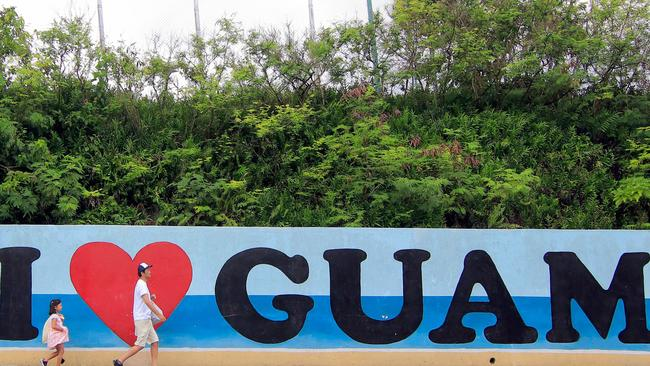 The Pacific US island of Guam houses one of the country's largest military bases in the region. Picture: AFP/ Virgilio Valencia