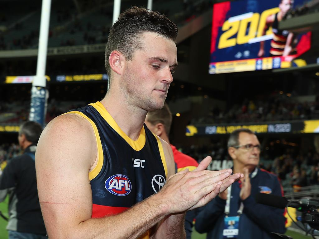 Brad Crouch has likely played his last game for Adelaide. Picture: Sarah Reed