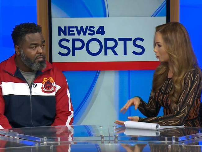 Recently fired Cardinal Ritter coach Brandon Gregory on KMOV4 News.