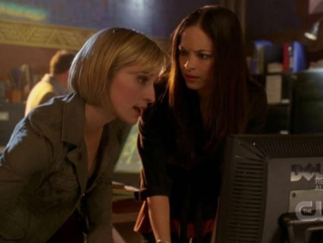 Kristin Kreuk and Allison Mack starred together in Smallville. Picture: CW