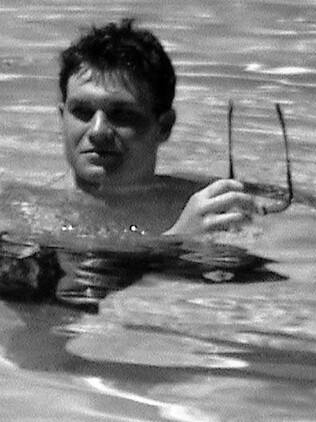 Rush in a Kuta hotel pool before his arrest.