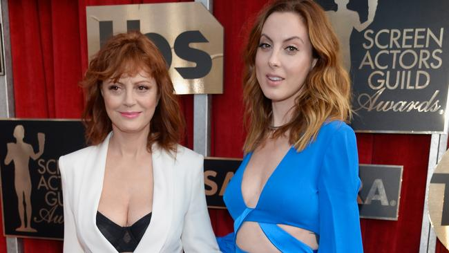 Susan Sarandon's cleavage-baring outfit caused quite the stir.