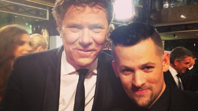 """""""Me and Richard. Hashtag Logies"""" Logie winner Joel Madden tweeted this morning. Picture: Twitter"""