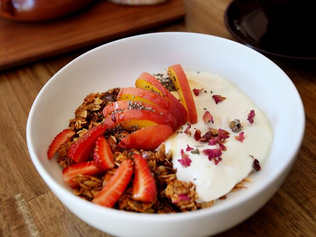 Opt for natural Greek yoghurt when you can … it often has way less sugar.