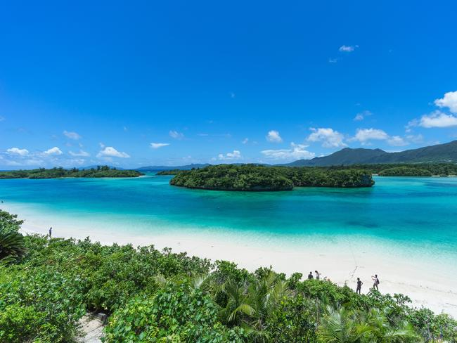 Kabira Bay in Japan's Ishigaki Island National Park.