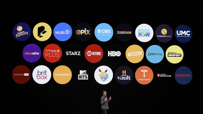 Peter Stern, Apple Vice President of Services, speaking about Apple's revamped TV ecosystem. PictureL: Tony Avelar