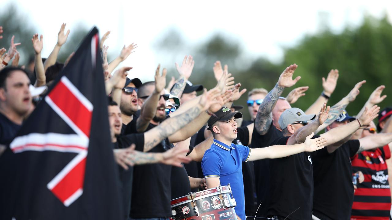 Wanderers supporters recently travelled to Mudgee to watch their team play Perth Glory.