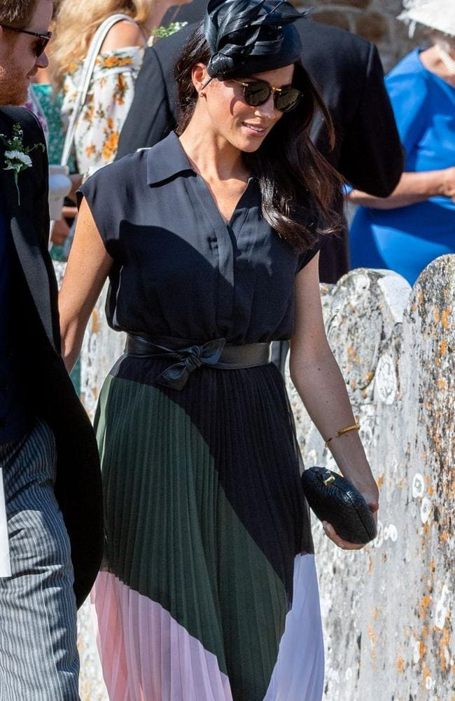 Meghan Markle wore Club Monaco to a wedding in August.