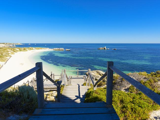 Rottnest Island is dotted with perfect beaches and hidden coves.