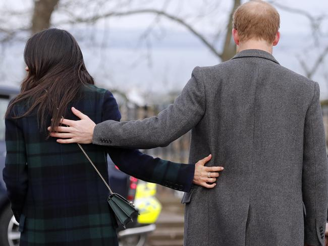 Meghan and Harry have turned their backs on being senior members of the royal family. Picture: AP Photo/Frank Augstein, File