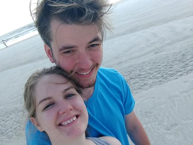 The newlyweds were enjoying a swim at Crescent Beach in St Augustine when a strong current swept them deeper into the ocean.