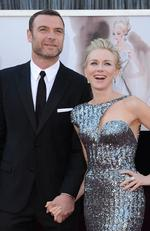 Liev Schreiber and Naomi Watts arrive at the Oscars on February 24, 2013 in Hollywood, California. Picture: Getty