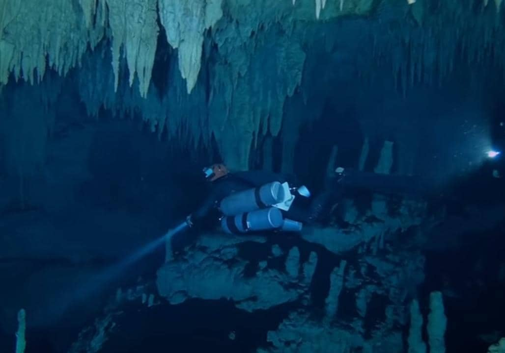 Researchers Discover Connection Between Underwater Cave Systems in Mexico. Credit - YouTube/Great Maya Aquifer Project via Storyful