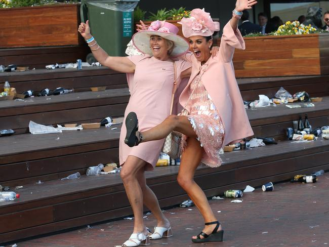 It was a big year for pink at Flemington. Picture: David Crosling/AAP