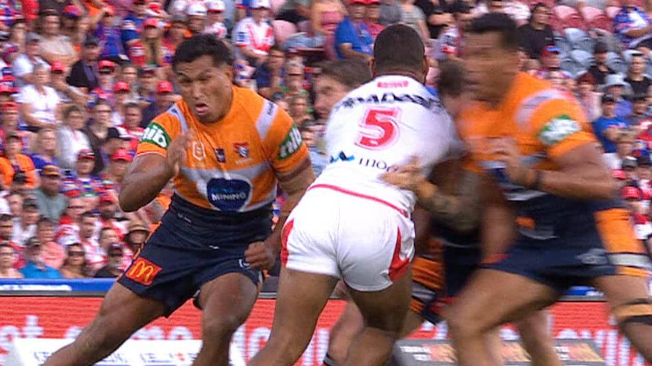 Jacob Saifiti is looking at a two match ban for a shoulder charge.