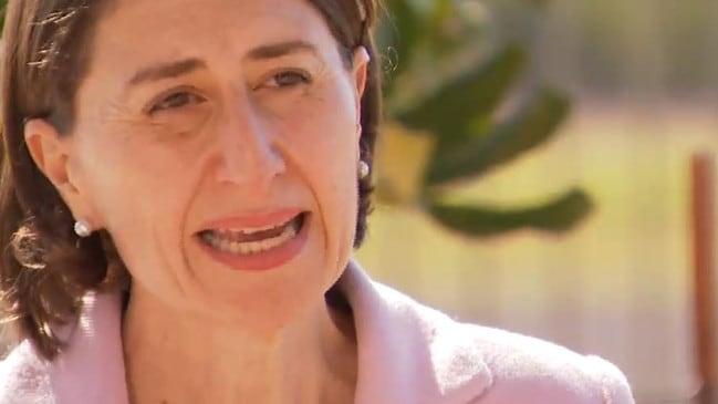 NSW Premier Gladys Berejiklian. Picture: Nine News