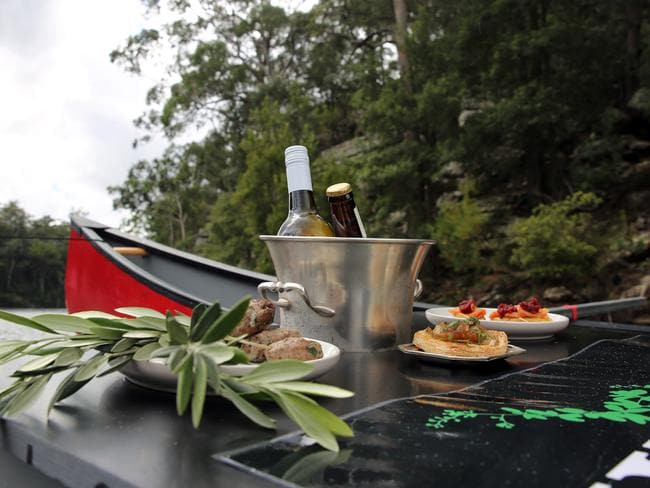 Wildfest guests glamp and enjoy native bush feasts under the stars. Picture: Nicholas Eagar