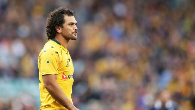 Karmichael Hunt of the Wallabies at Allianz Stadium.