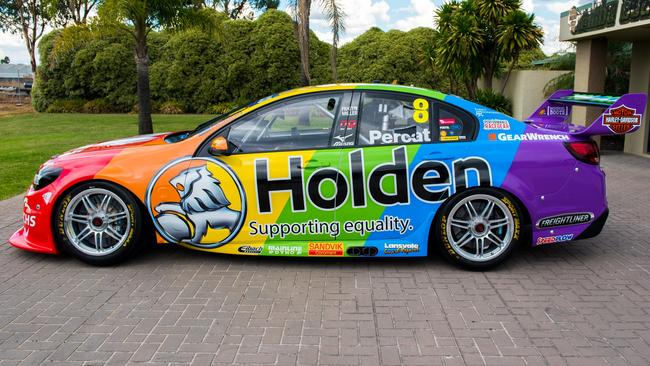 The 'Holden: Supporting Equality' livery Nick Percat raced with in 2017. Pic: Brad Jones Racing