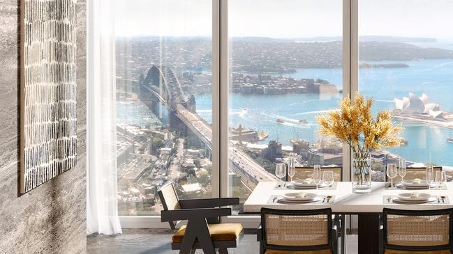 Lendlease's One Sydney Harbour project in Barangaroo South. The penthouse has sold for an Australian record of $140m.