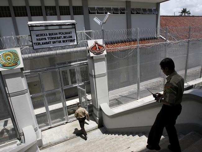 The main gate of Batu Prison on Nusa Kambangan island where inmates are held. Picture: Lukman S Bintoro.