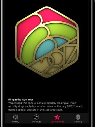"Apple issued a ""badge"" to reward Apple Watch wearers who completed their activity rings for every day of a week in January."
