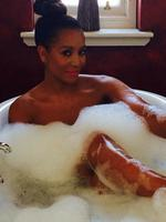 "Voice Judge Melanie Brown reveals how she unwinds, ""Sometimes all ya need is a full face of make up and a hot bubble bath #divalifstyle."" Picture: Instagram"