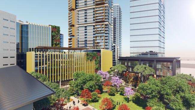 An artist's impression of a university campus in Warwick Lane, Blacktown. Picture: Supplied