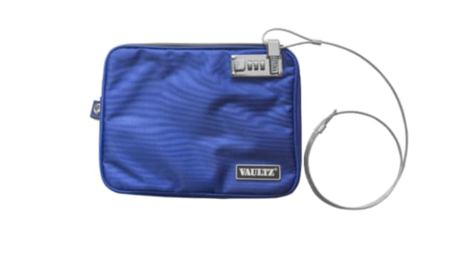 A lockable pouch similar to this will be offered to audience members. Picture: Vaultz Source: Supplied