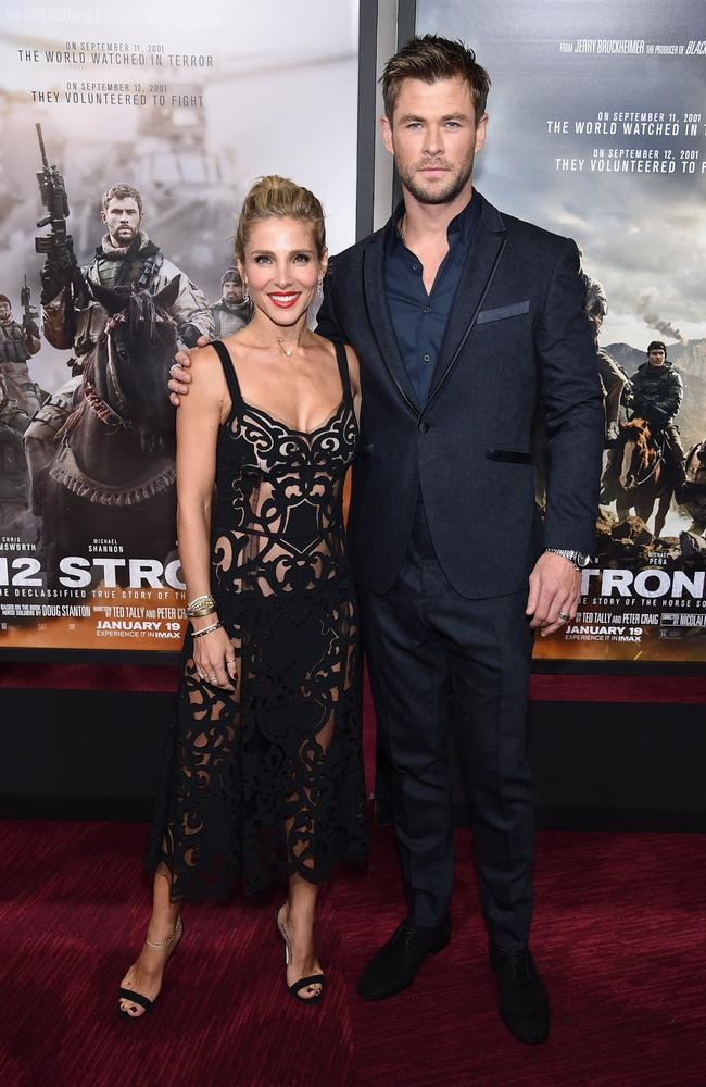 Elsa Pataky and Chris Hemsworth. Picture: Dimitrios Kambouris/Getty Images