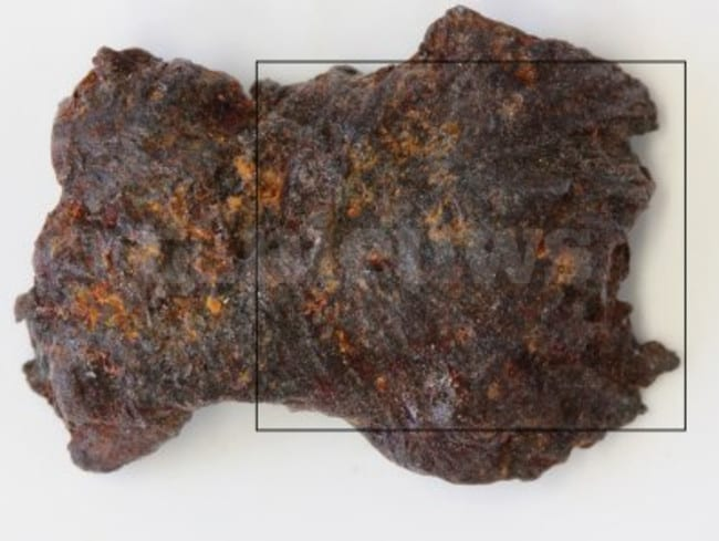 Smoking gun ... A scorched piece of metal identified as being from a BUK missile warhead. Source: RTLNieuws