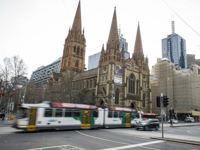 The historic St Paul's Cathedral and Flinders Street Station were among the alleged city centre targets. Picture: Eugene Hyland